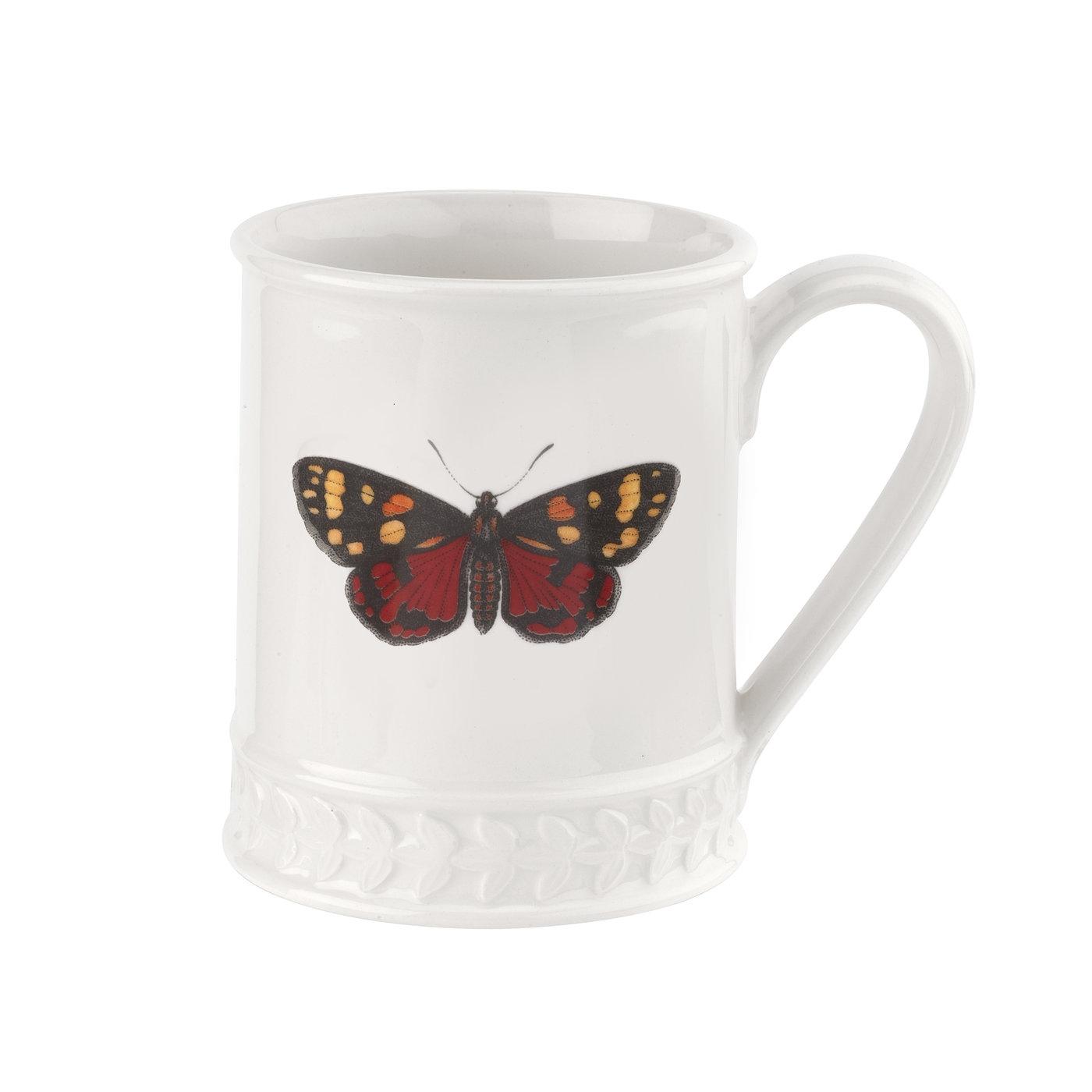 포트메리온 '보타닉 가든 하모니' 나비 머그 Portmeirion Botanic Garden Harmony Embossed 12 oz Tankard-Scarlet Butterfly