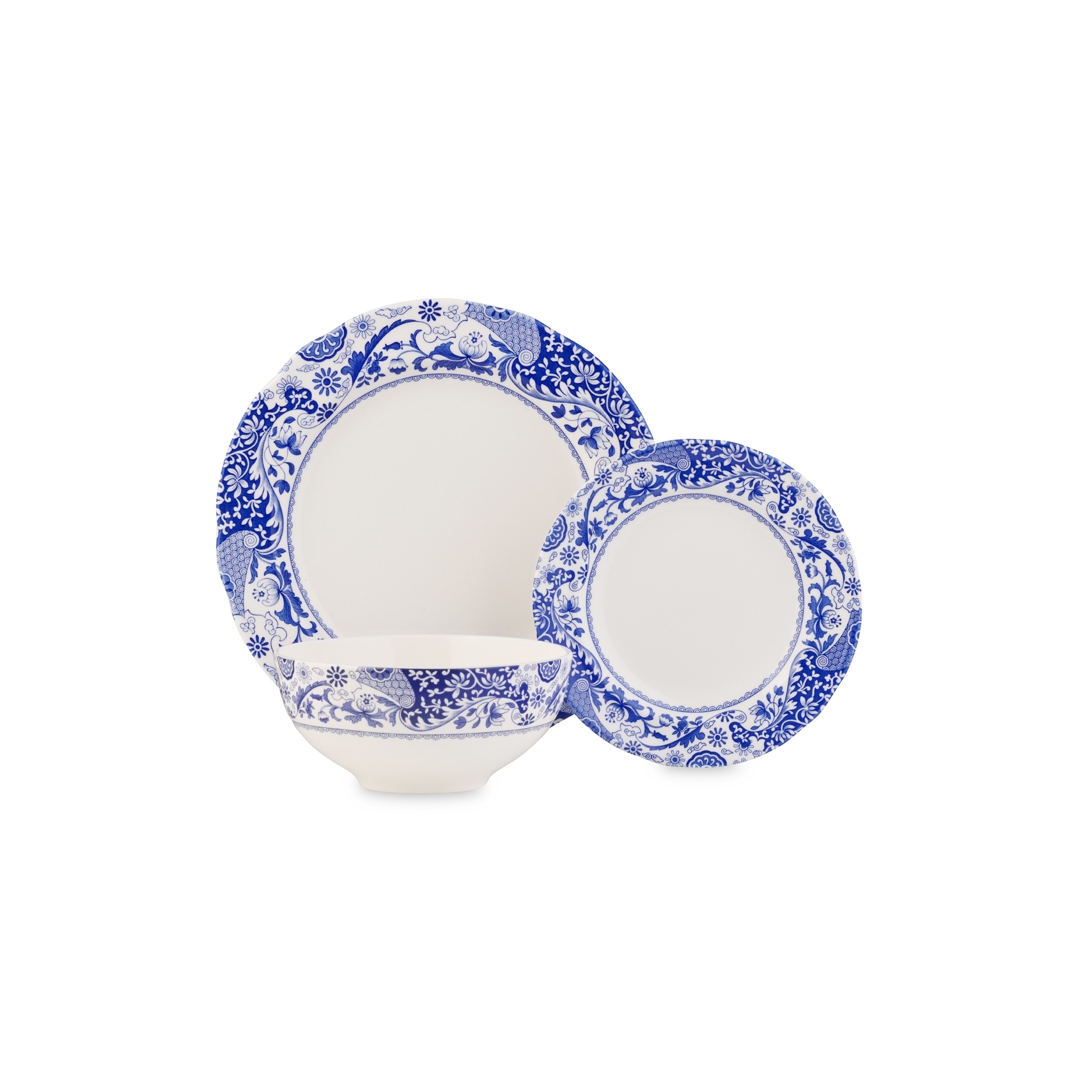 Spode Blue Italian Brocato 12 Piece Set image number 1