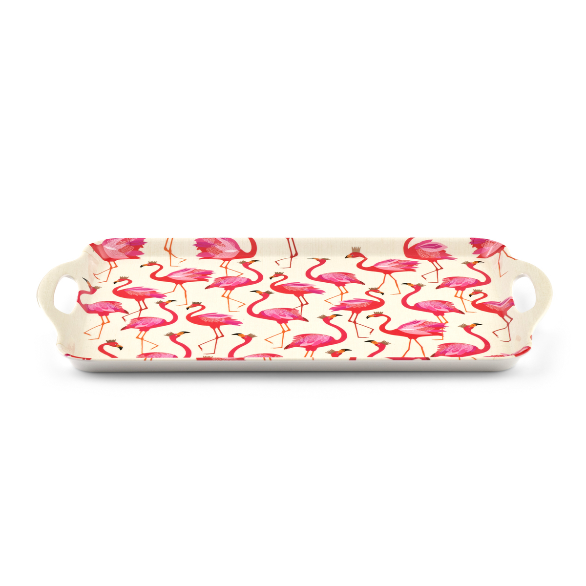 Sara Miller London for Pimpernel Flamingo Melamine Handled Tray image number 2