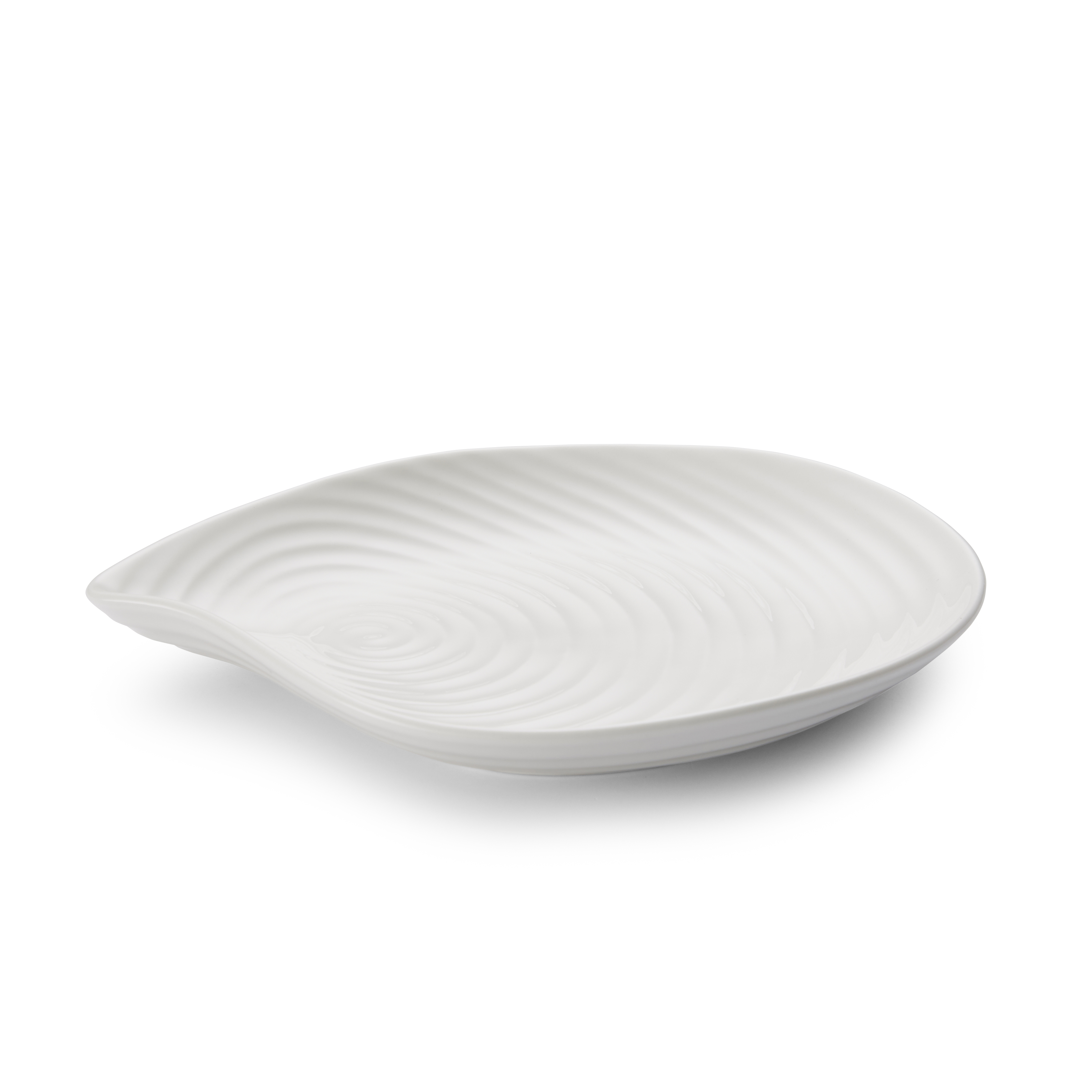 Sophie Conran for Portmeirion 8.75 Inch White Shell Shaped Serving Plate image number 0