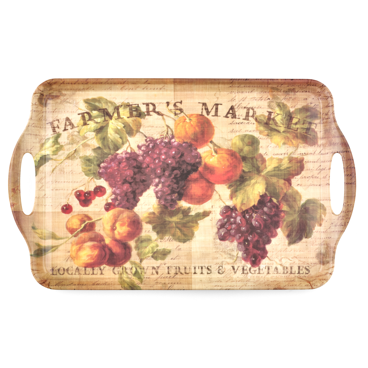 Pimpernel Abundant Fall Large Melamine Handled Tray image number 1