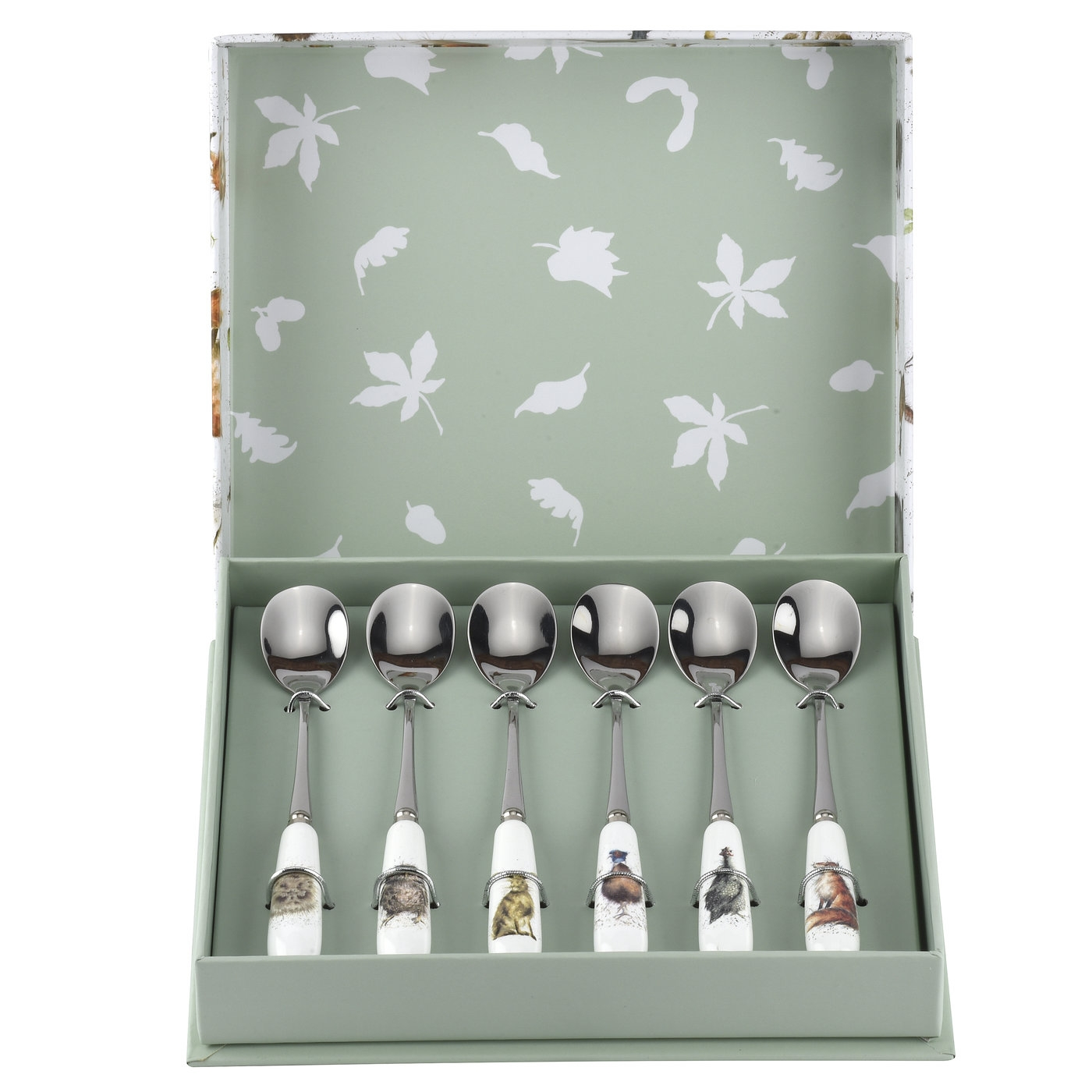 Wrendale Designs Set of 6 Tea Spoons (Assorted) image number 0