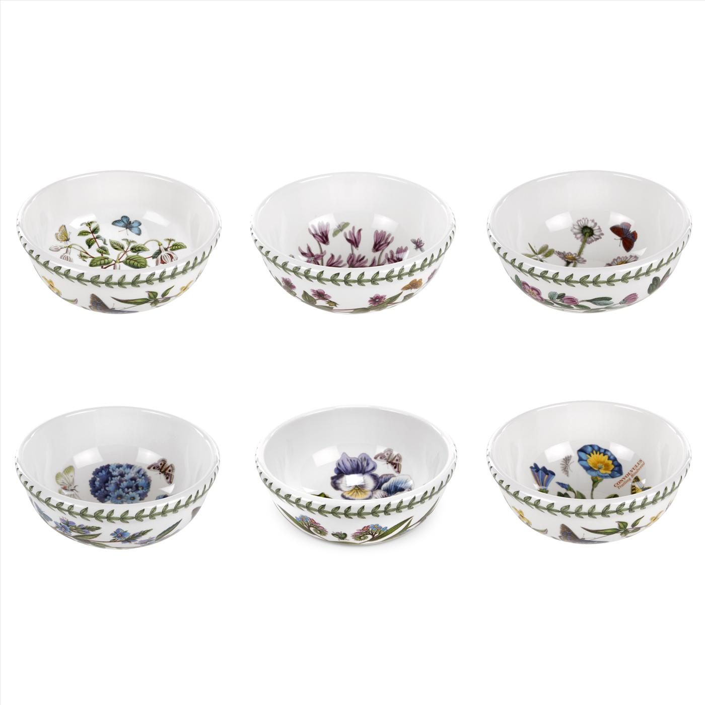 Portmeirion Botanic Garden Set of 6 Individual Fruit/Salad Bowls Assorted Motifs image number 0