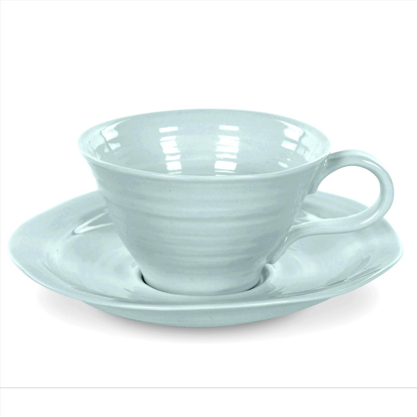 포트메리온 '소피 콘란 티컵 앤 소서 4개 세트' Portmeirion Sophie Conran Celadon Set of 4 Teacups and Saucers