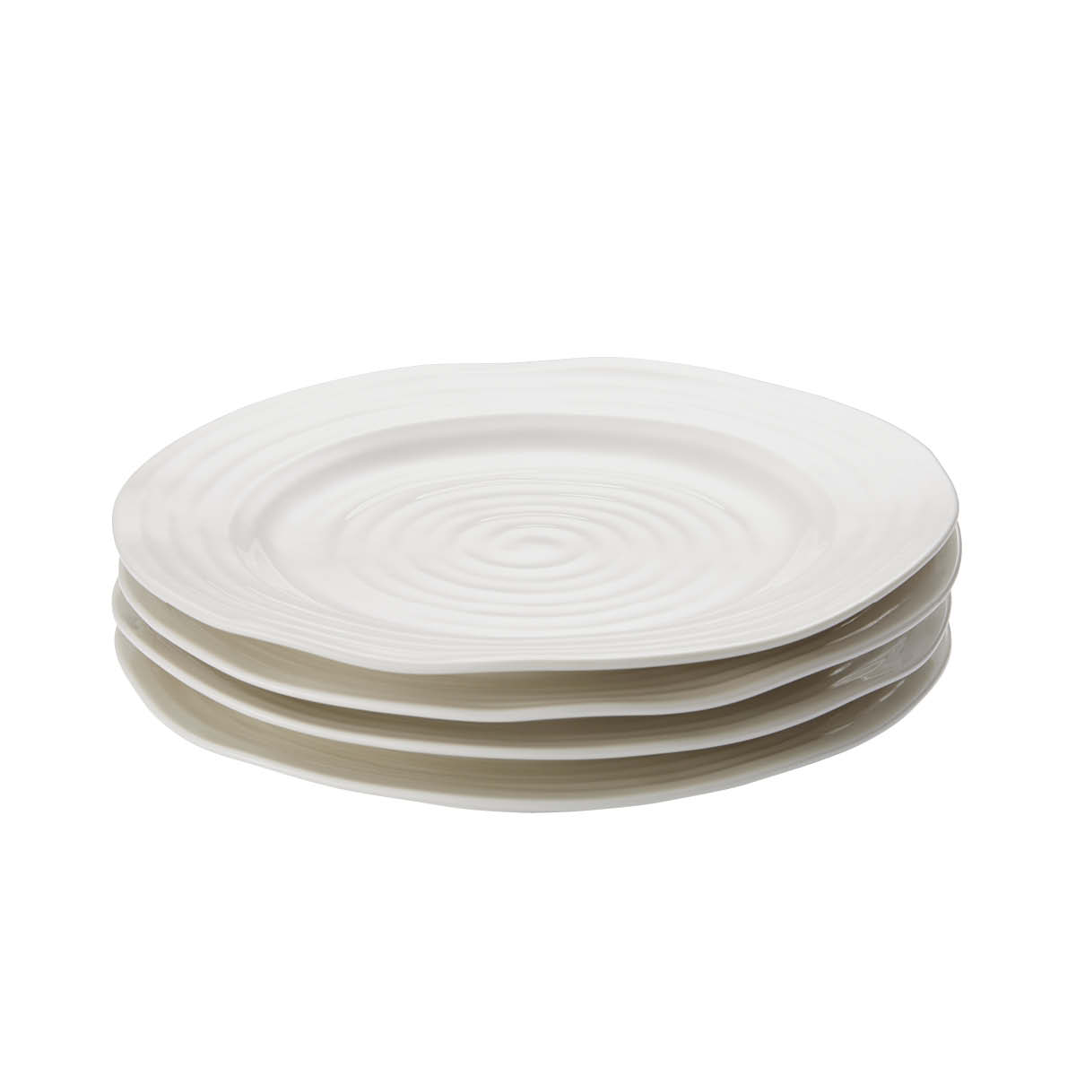 포트메리온 '소피 콘란' 샐러드 접시 4개 세트 Portmeirion Sophie Conran  White Set of 4 Salad Plates