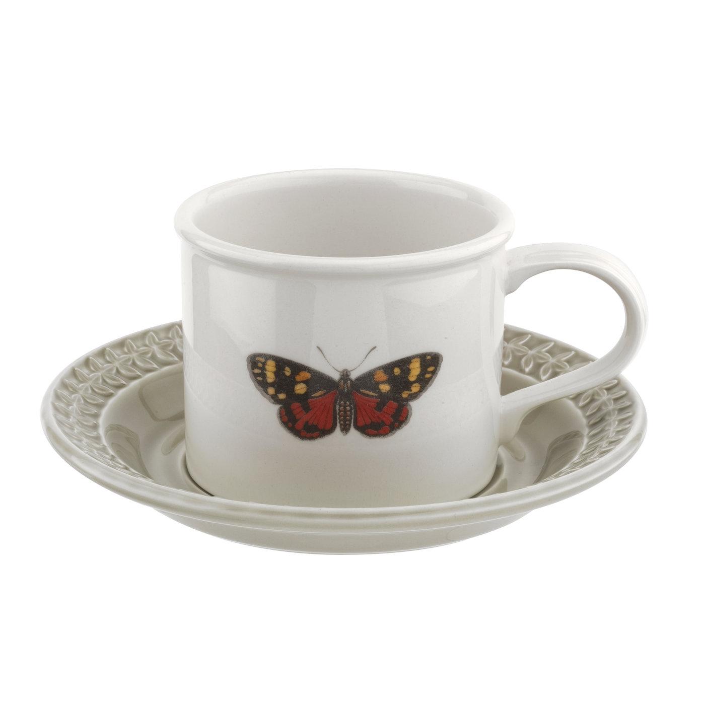 포트메리온 '보타닉 가든 하모니' BF머그 앤 컫받침 Portmeirion Botanic Garden Harmony Embossed Stone Breakfast Cup and Saucer