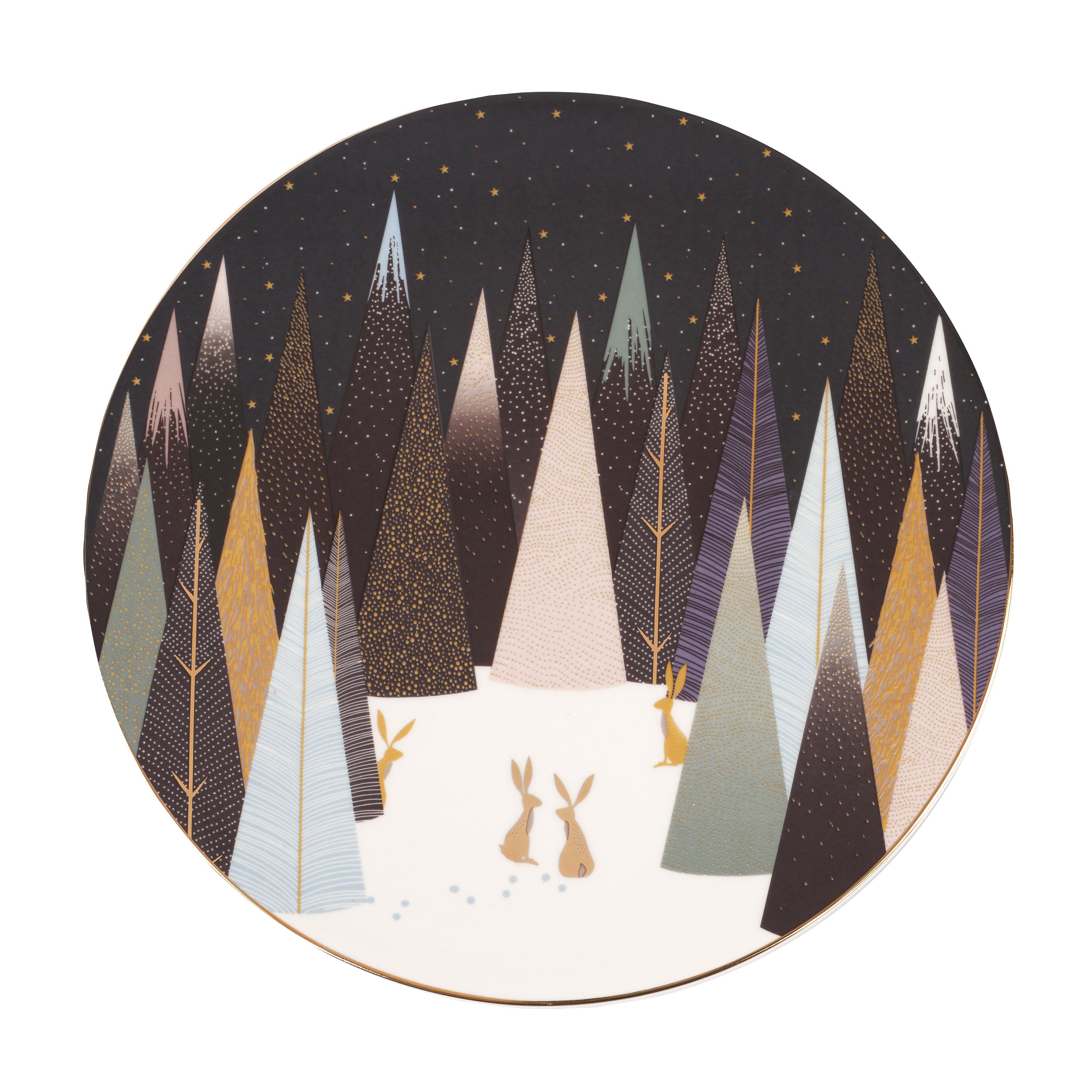 포트메리온 '사라 밀러 런던 프로스티드 파인즈' 서빙 접시 Sara Miller London for Portmeirion Frosted Pines 9 Inch Serving Plate
